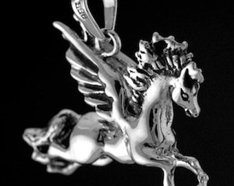 Pegasus Pendant, Horse Jewelry, Pegasus Necklace, Fantasy Jewelry
