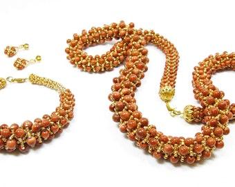 Goldstone Jewelry Set