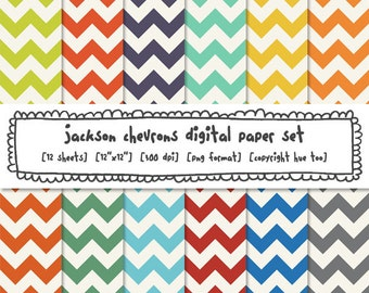 digital paper chevrons, chevron photography backgrounds, boys, red orange lime green navy blue yellow gray, instant download - 489