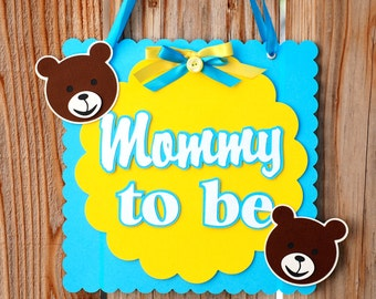 Teddy Bear Chair or Wall Sign - you choose mommy or daddy