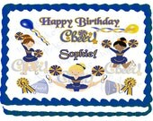 Cheerleading Cake Topper - Custom Design
