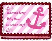 Nautical Baby Shower Cake Topper - 1/4 sheet Custom Design