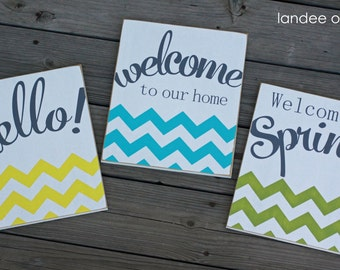A Little Bit of Chevron Decorative Board-- various sayings and colors