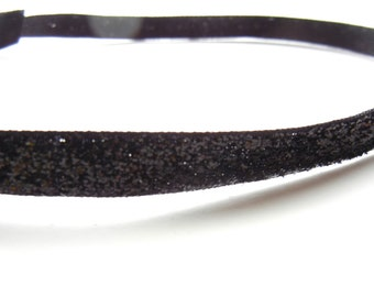 SALE // Black Sparkle Headband