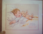 Bucilla cross stitch Happy Dreams baby Picture kit Sealed personalize Date art Bessie Pease Gutmann