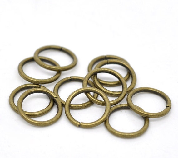 500pcs 10mm antique bronze jump ring 16 ships from