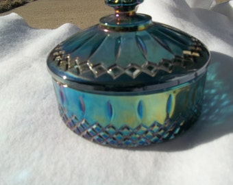 Blue Carnival Candy Dish