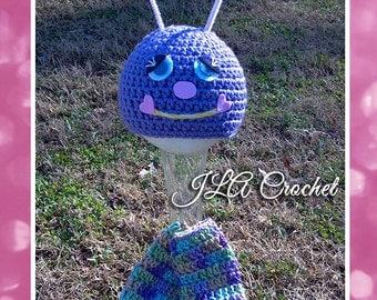 Lovebug Hat & Legwarmers Crochet Pattern Instant Download