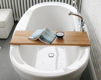 Wood Bath/tub caddy/platter/tray of salvaged wood spa natural organic eco gift custom made