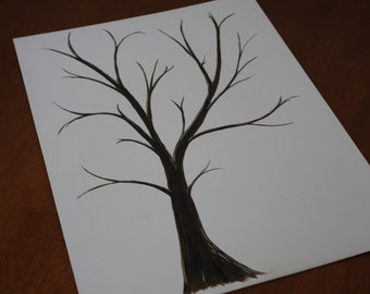 Wedding Thumbprint Trees - Alternative Guest Book  (SALE)