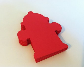 Red fire hydrant die cuts(20 count)