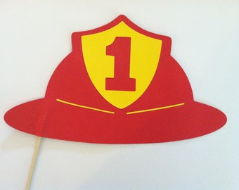 Nerdy image in fireman hat printable