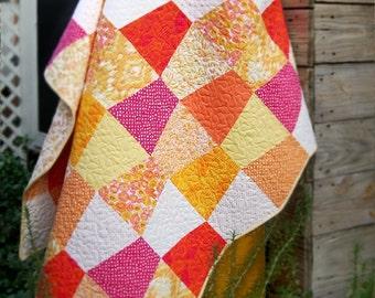 Hot Citrus Tumbler quilt kit - Pre-cut