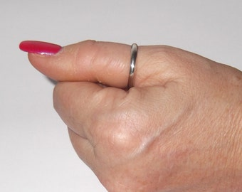 Sterling Silver Plain Band, Thumb Ring - R38