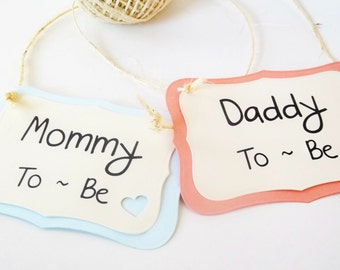 Baby Shower Chair Signs, Mommy to be Sign, Party Decoration, Custom Sign