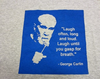 George Carlin Laugh T-Shirt by Jim Wallace