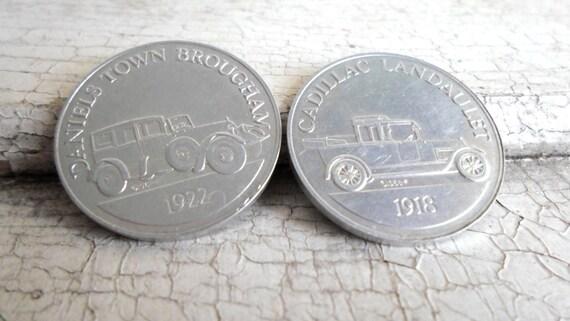 Vintage Sunoco Gas Coins, Antique Car, Coin Series, Americana, Advertising, Gasoline, Service Station, Garage, Retro Mad Men