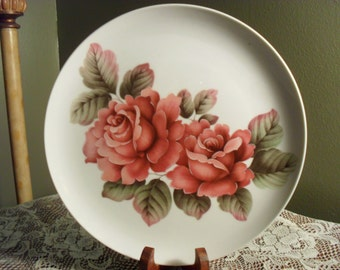 Painted Rose Decorator Plate