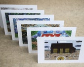 Set of 6 Greeting or Christmas Cards - Writers' Houses - Gift Ideas - English Literature - British Landscapes - British Writers' Homes