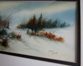 Watercolor Mixed Media Painting by Nancy Murphy New Mexico Artist Framed