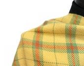 Handwoven Wool Tartan Yellow Orange Green Scarf - Isle of Skye - Basic Collection