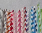 Paper Straw, 300 Pack, Pick Your Color/s, 10% Quantity Discount