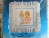 1984 Vintage Precious Moments Stitchery Pillow Kit -  Original Package Unopened