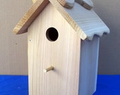 DIY Design the finish yourself-  Outdoor wood birdhouse  fully functional - Western Red Cedar made in USA