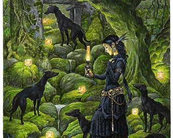 Print. Mariana and the Black Whippets.