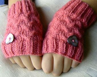 Cosy Handknitted Fingerless Gloves
