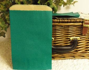 Teal Paper Bag, Teal Paper Gift Bag, 50 Teal 6x9 Paper Gift Bags, Merchandise Bags, Favor Bags, Weddings, Showers, Birthdays, Treats