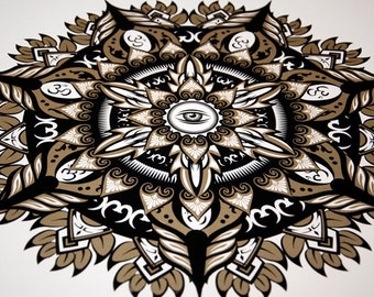 Third Eye Screenprint Mandala