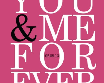 You & Me Forever - Art Print