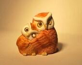 Vintage Owl Tea Light