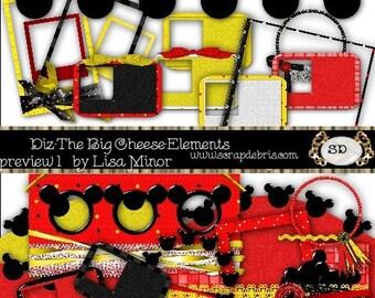 Diz-The Big Cheese 1 Digital Scrapbook Kit