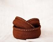 Crochet baskets / boxes.  Storage Basket Organizer. Brown / Chocolat. Spring Winter. Eco-Friendly. Gift