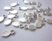 Earring Bails - 24 pcs - Silver Plated 11x5mm - For Scrabble Tiles, Cabochons, Charms, etc.