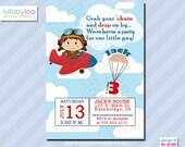 Airplane Birthday Invitations - Printed Invitations - Custom Invitations