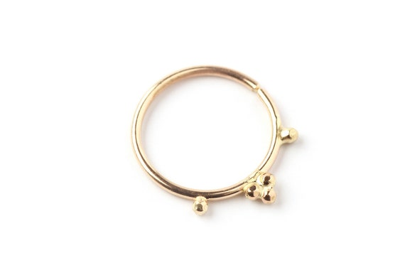 NOSE RING Indian style tiny Gold nose ring 14 karat A