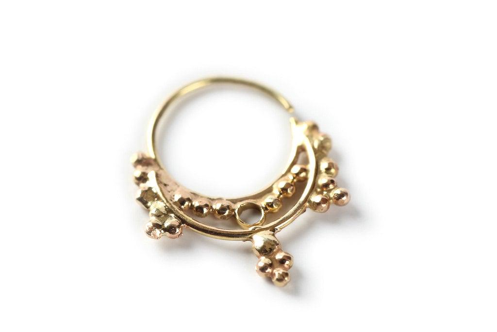 nose ring gold nose ring 14 karat yellow gold gold