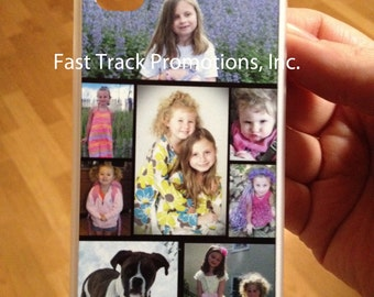 Photo Collage Phone Case to fit iPhone 4, iPhone 4s, iPhone 5 or iPhone 5s Great Birthday Gift