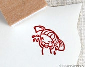 Don't cry Small Rubber Stamp