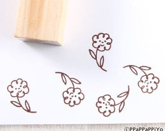 cute flower Small Rubber Stamp