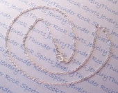 """5 Finished Jewelry 18"""" Silver Plated Shiny Flat Cable Chain Necklace with Lobster Clasp for Charms and Pendants"""