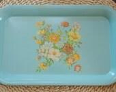 pretty vintage aqua flower tray