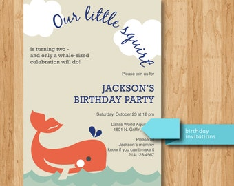 Printable Little Squirt Birthday Invitations