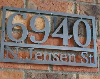 modern house numbers steel house numbers craftsman house number address house address - Decorative House Numbers