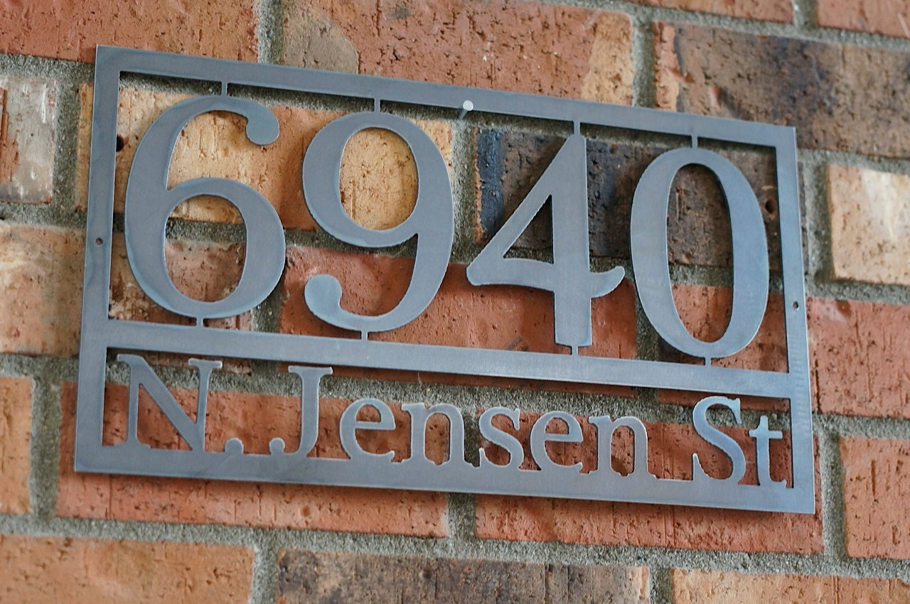 Modern House Numbers Steel House Numbers Craftsman House