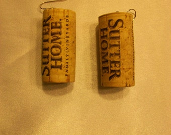 Sutter Home Wine Cork Earrings
