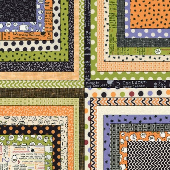 Layer Cake Quilt Fabric : The Boo Crew Layer Cake Moda Fabrics Quilt Fabric 42